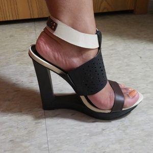 Funky platform wedge sandal!